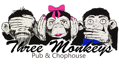 3 monkeys pub chophouse Logo